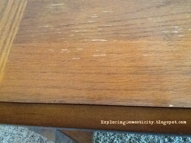 Exploring Domesticity: Easy fix for a worn coffee table