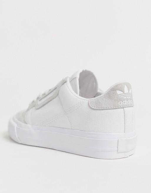 niño venta más caliente comprar mejor adidas Originals Continental 80 Vulc trainers in white | ASOS ...