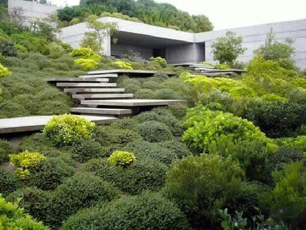 maison #beton #escalier #jardin (Juan Grimm) | Arkitektur ...