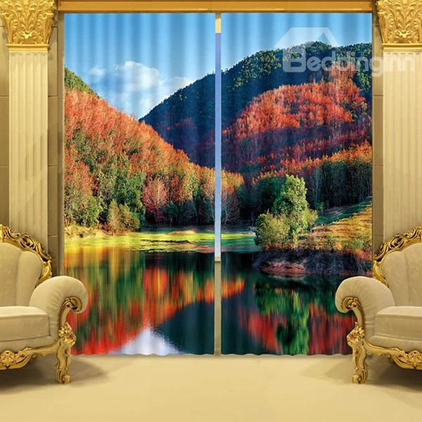 forest printed 3d curtain 3d curtains