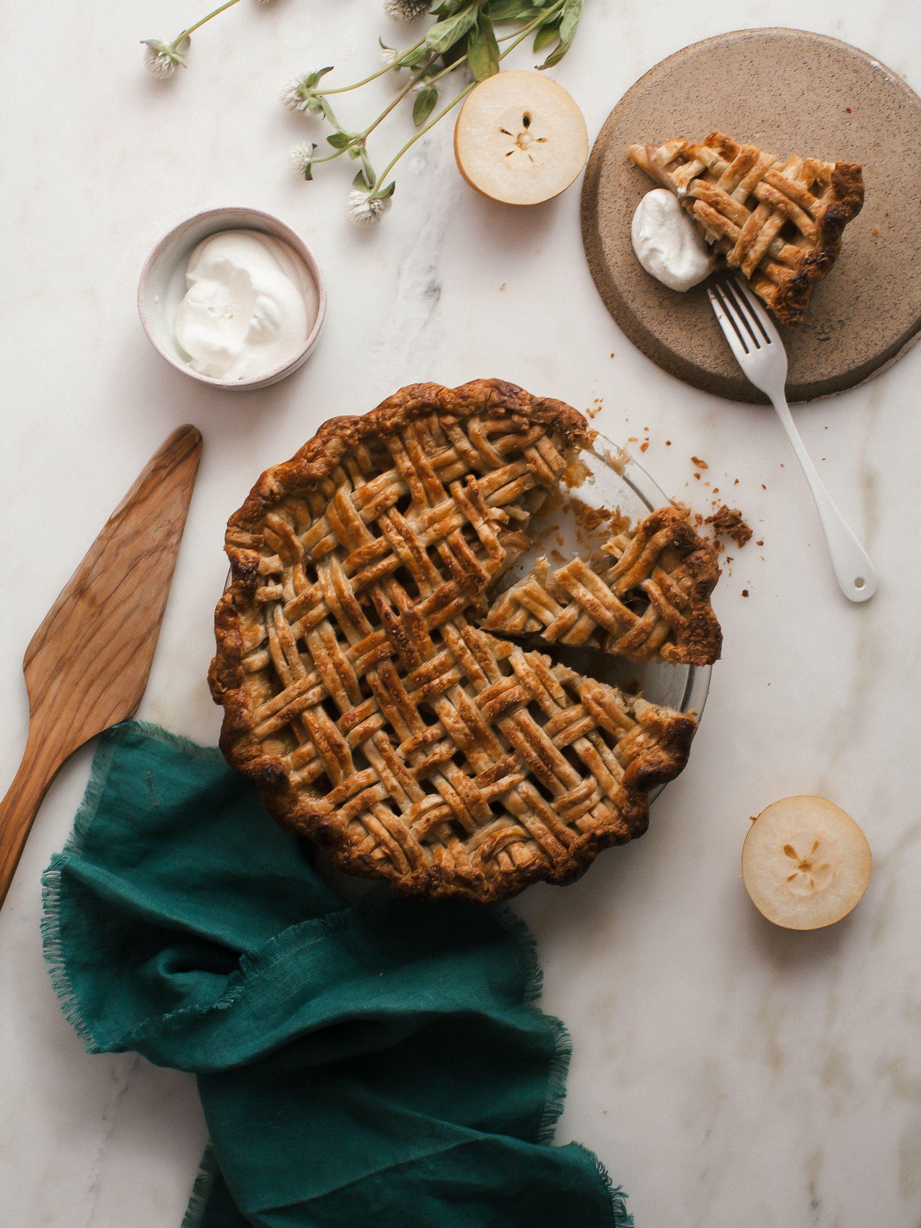 Asian Pear Apple Pie - A Cozy Kitchen