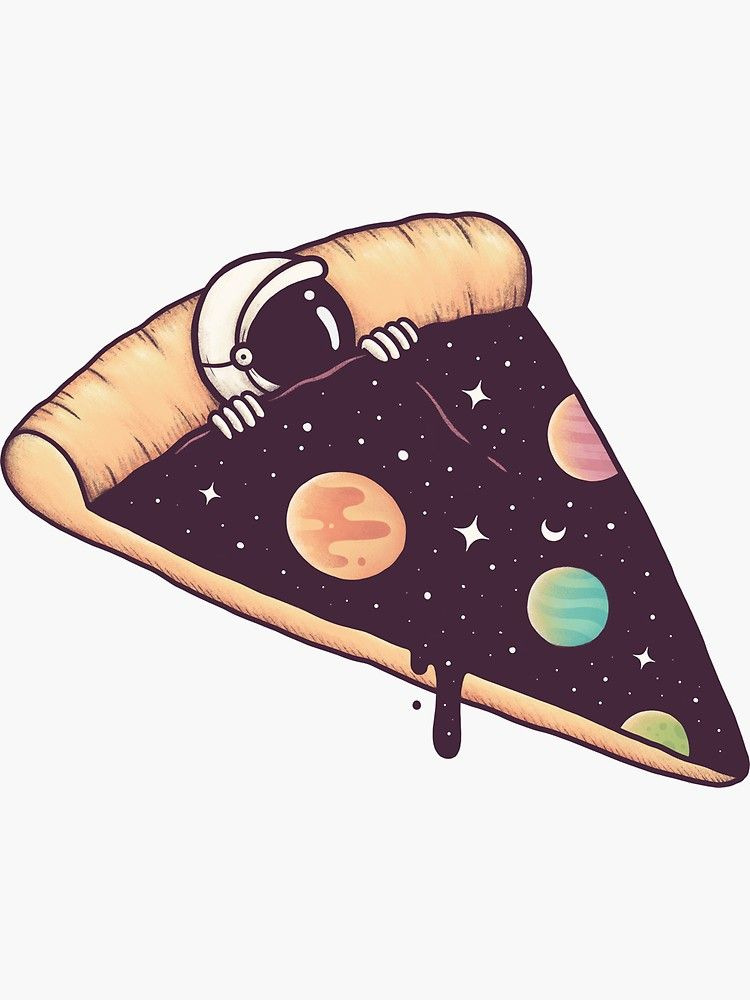 'Galactic Deliciousness' Sticker by buko