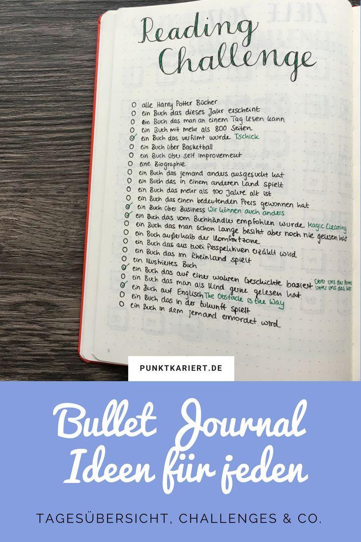 Bullet Journal Ideen, die jeder sofort umsetzen kann | Punktkariert