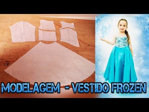 e7ef9ff088 MODELAGEM  Vestido Inspirado na Princesa Elsa- FROZEN - YouTube ...