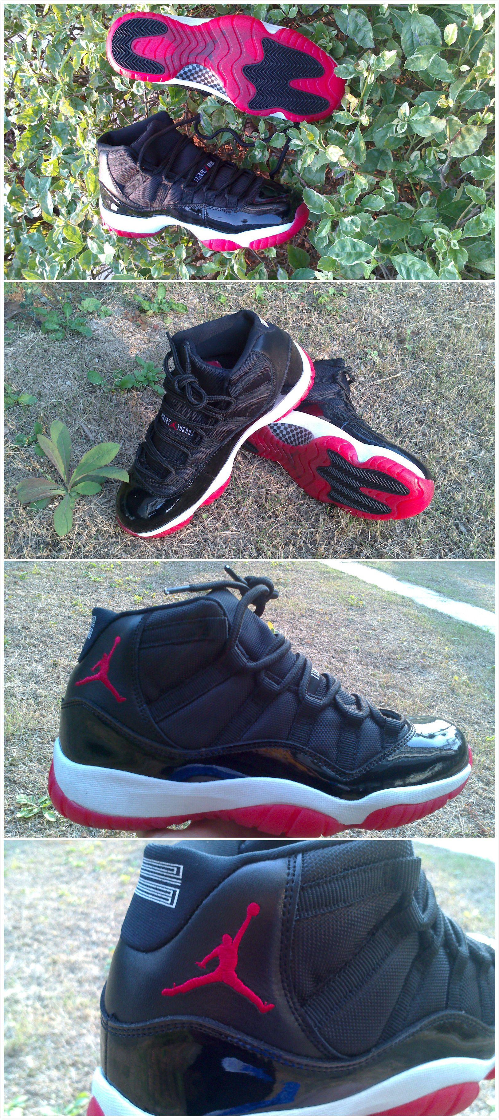 Air Jordan 11 Bred Shoes *Cheap Nike Shoes*
