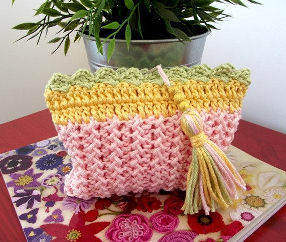 Knitting Bag Pattern Purse With Tassel Summer Purse Bag Bolsas