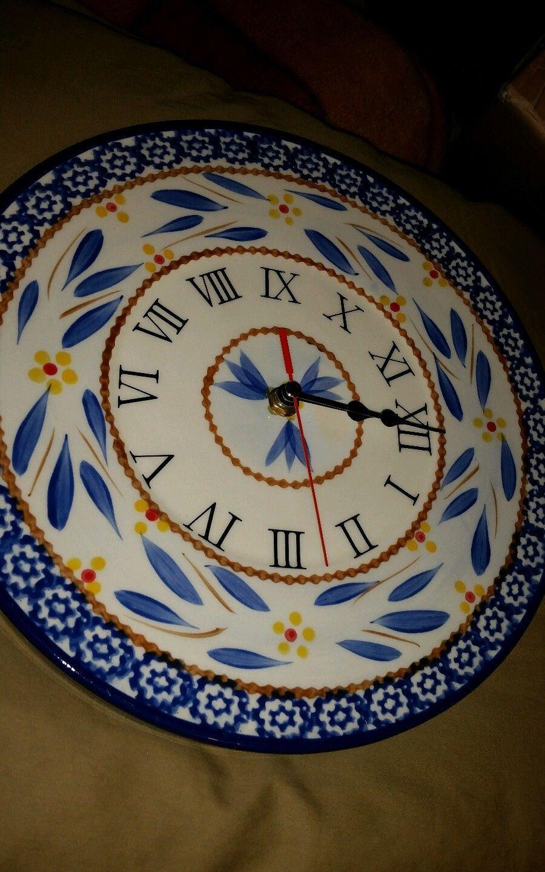 Blue-TEMPTATIONS BY TARA OLD WORLD CERAMIC 10 KITCHEN CLOCK ...