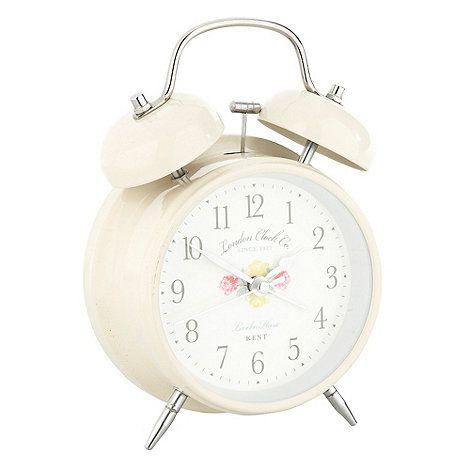 Cream twin bell alarm clock