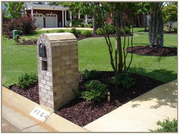 landscape mailbox lawn