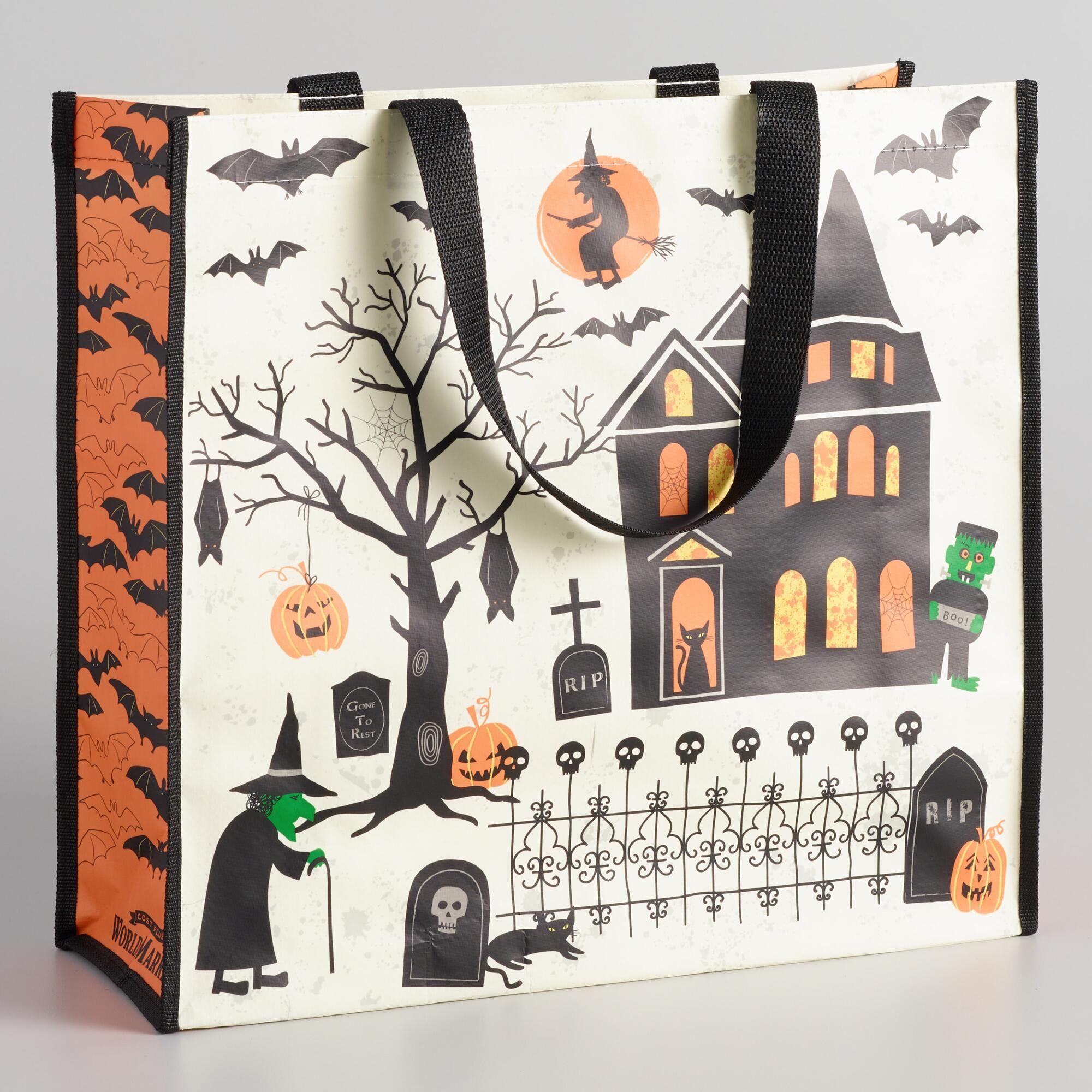 f7f0fb49c9 Large Vintage Halloween Tote Bag by World Market