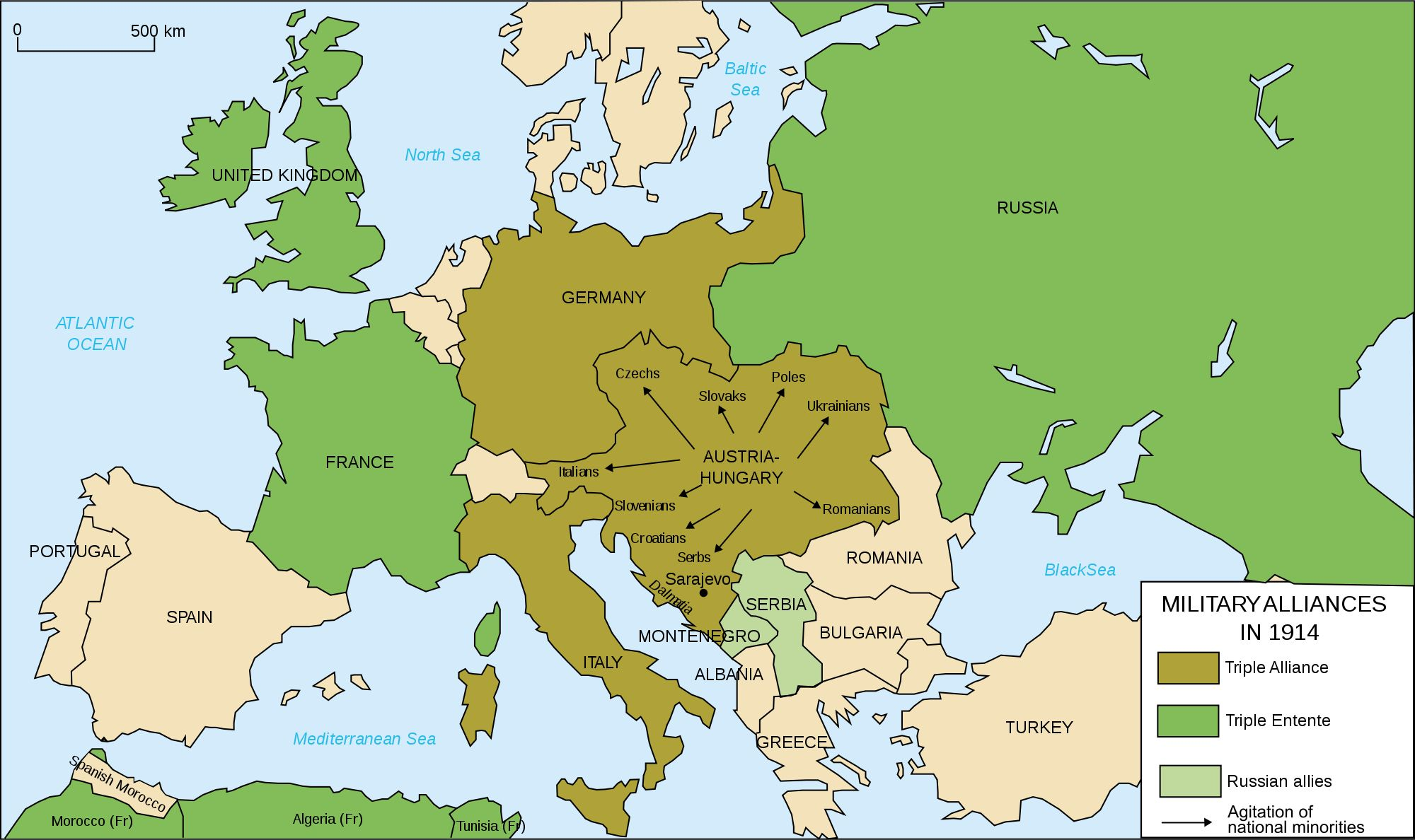 This map shows the alliances in world war 1 the central power this map shows the alliances in world war 1 the central power consisted of germany gumiabroncs Choice Image