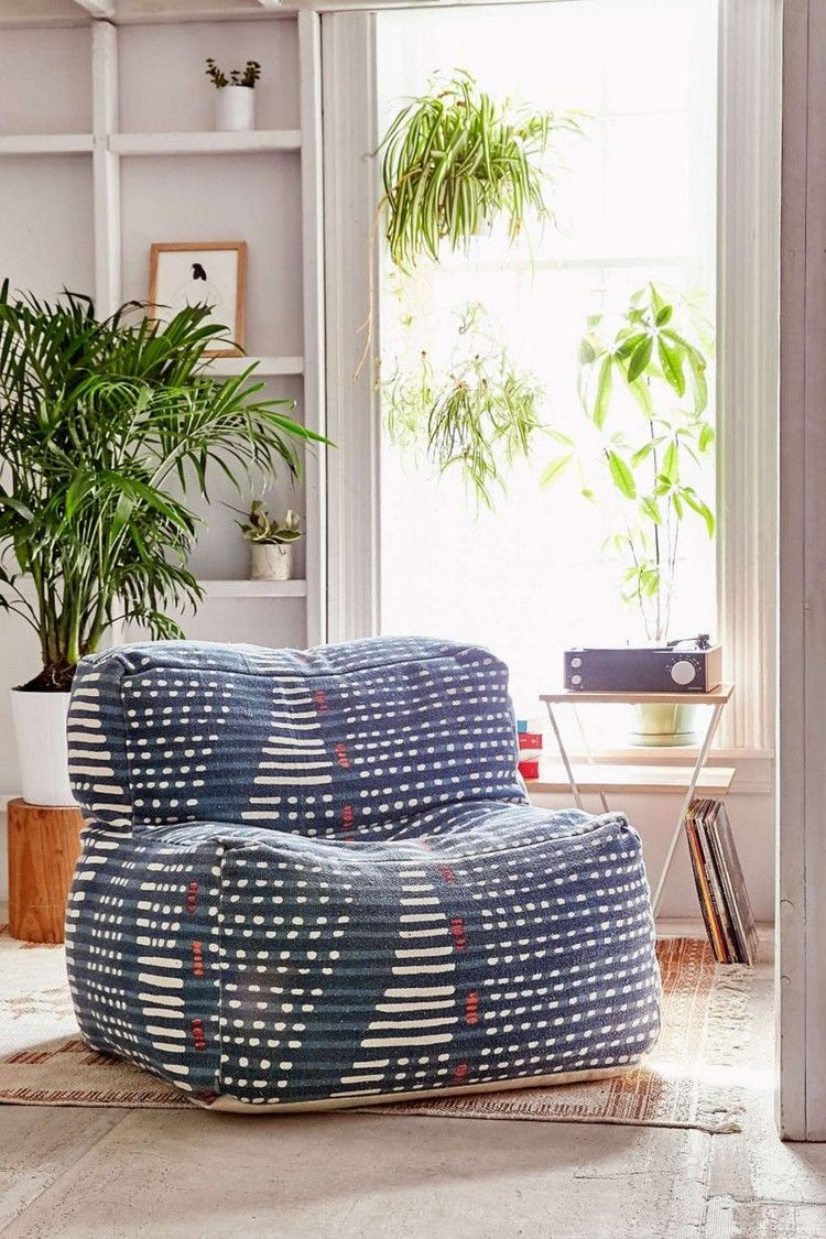Adorable Patterned Bean Bag Chairs Ideas 23 Bean bag