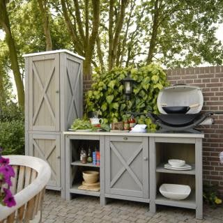 Like The Idea Of Customized Space In An Outdoor Potting Shed Outdoor Kitchen Cabinets Outdoor Kitchen Design Outdoor Kitchen