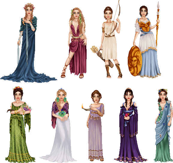 Griechische Göttinnen in Farbe ;) Greek Goddesses by ~LadyAraissa on ...
