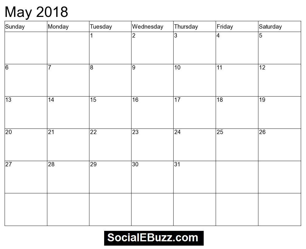 2018 may calendar template httpsocialebuzzmay 2018 2018 may calendar template httpsocialebuzzmay 2018 pronofoot35fo Images