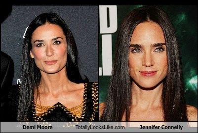 Demi Moore Totally Looks Like Jennifer Connelly Jennifer Connelly Celebrity Look Alike Demi Moore