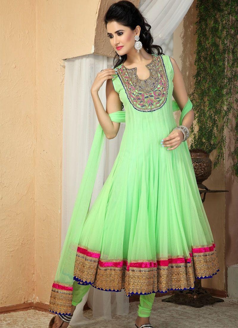 Attractive Net Anarkali Salwar Kameez