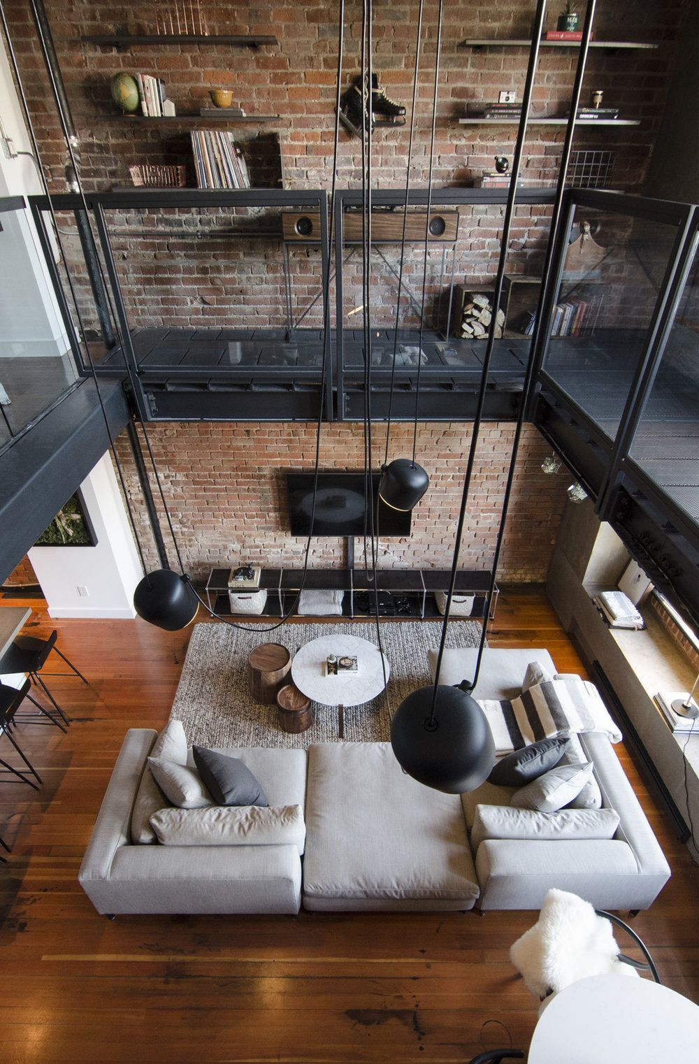 Loft apartment styled by kyla ray port quarter interiors vancouver bc