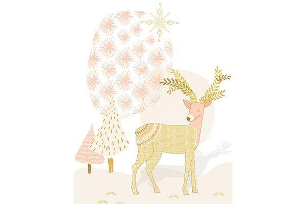 Boho Chic Christmas Reindeer Print | ninety6nine