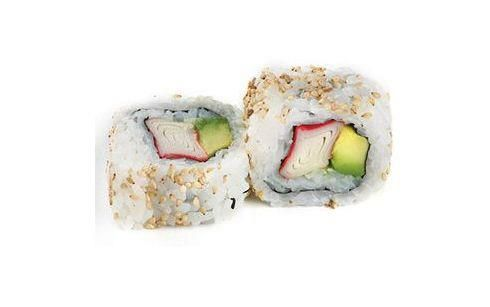 California roll. Kanikama y palta