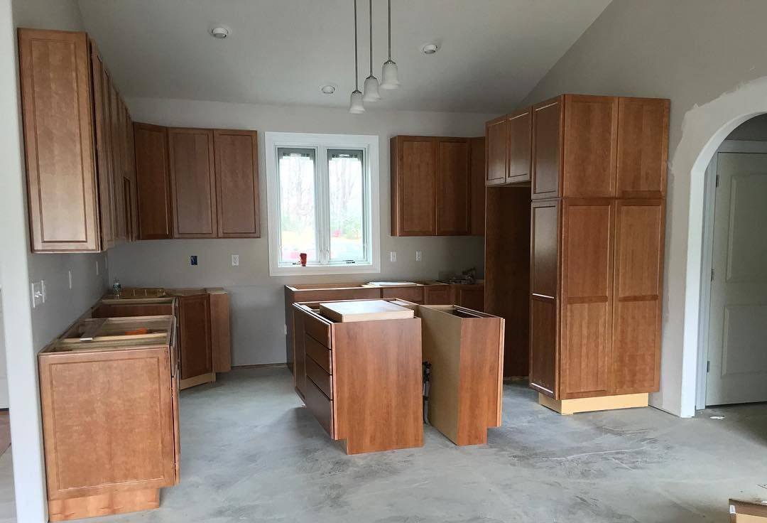This Custom Kitchen Features Kemper Choice Cabinets With A Baxter Cherry  Finish. The Silestone Countertop Will Be Installed Soon Bringing The Pieces  ...