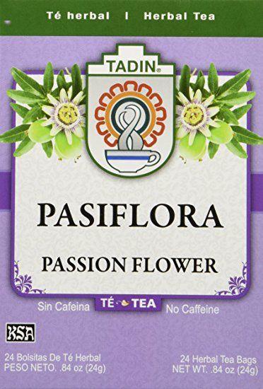 Tadin Tea Pasiflora Passion Flower Tea 24 Tea Bags Passion Flower Tea Flower Tea Tea Bag