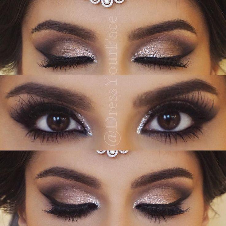 Photo of Wedding Makeup for Brunettes Smokey Makeup | Romantic Smokey Eye – #bru … …