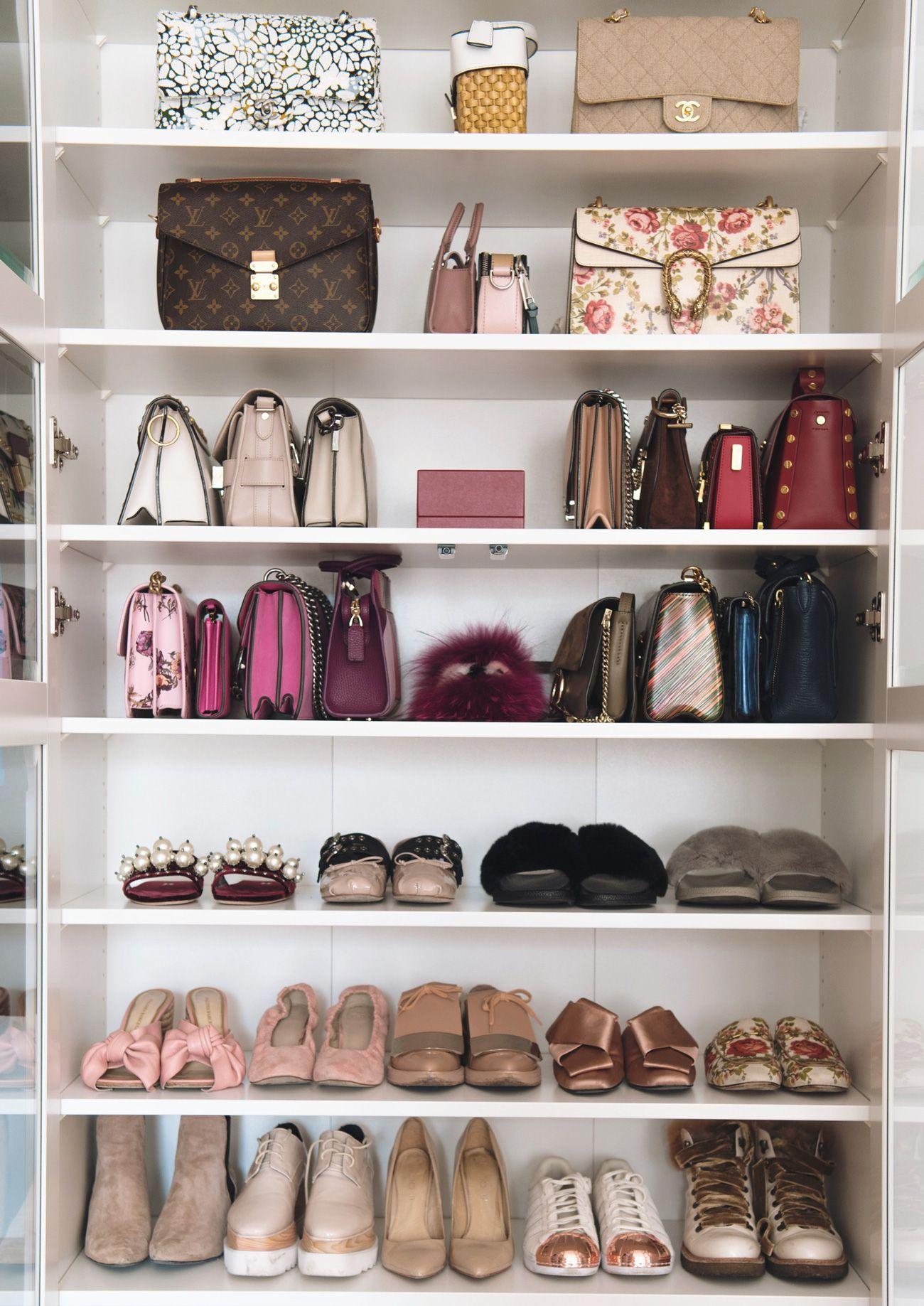 Interior Meine Taschen Und Schuhvitrine Tasche Schrank Ankleidezimmer Kleiderschrank