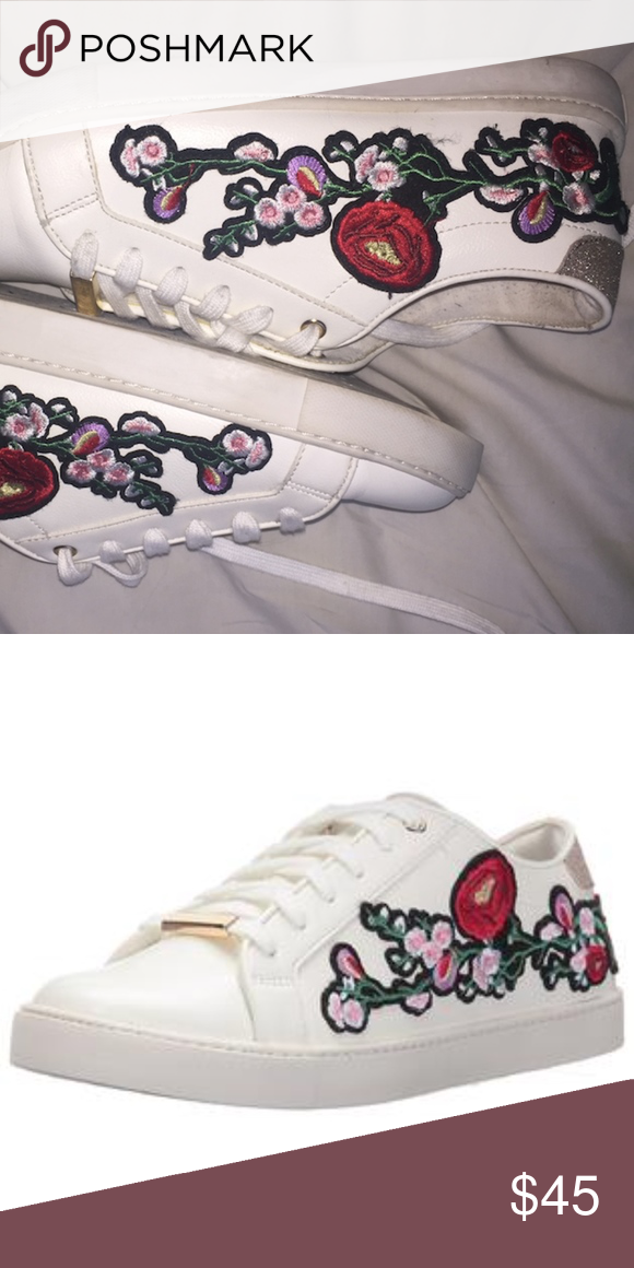 2d4d774ffb64 aldo floral sneakers aldo floral very slight off white sneakers with flower  patch on the side good condition us 7.5 Aldo Shoes Sneakers