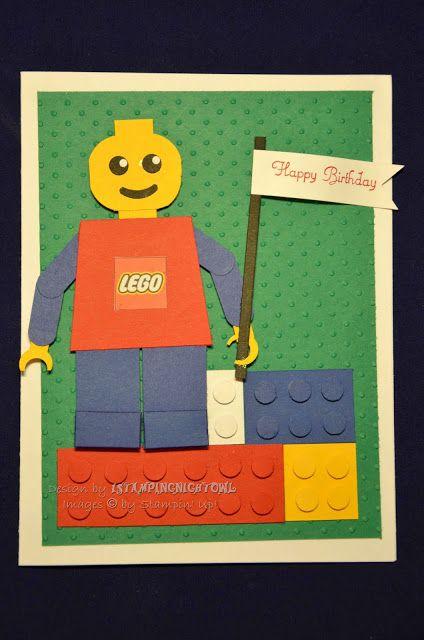 1stampingnightowl Lego Birthday Card Cards Pinterest Lego