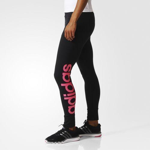 fb58ff8af51 Adidas Essential Linear Training Women Tight Fitness Dancing AC3587 Black  Gym #Adidas