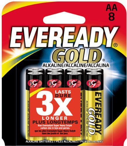 Eveready Gold A91bp 8 Aa Alkaline Battery Is The Answer To A Growing Need For A High Rate Source Of Portable Pow Alkaline Battery Batteries Household Batteries