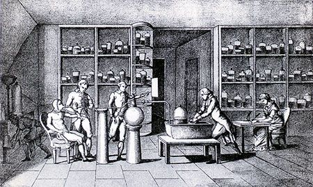Antoine-Laurent Lavoisier conducts an experiment on human - best of tabla periodica julius lothar meyer