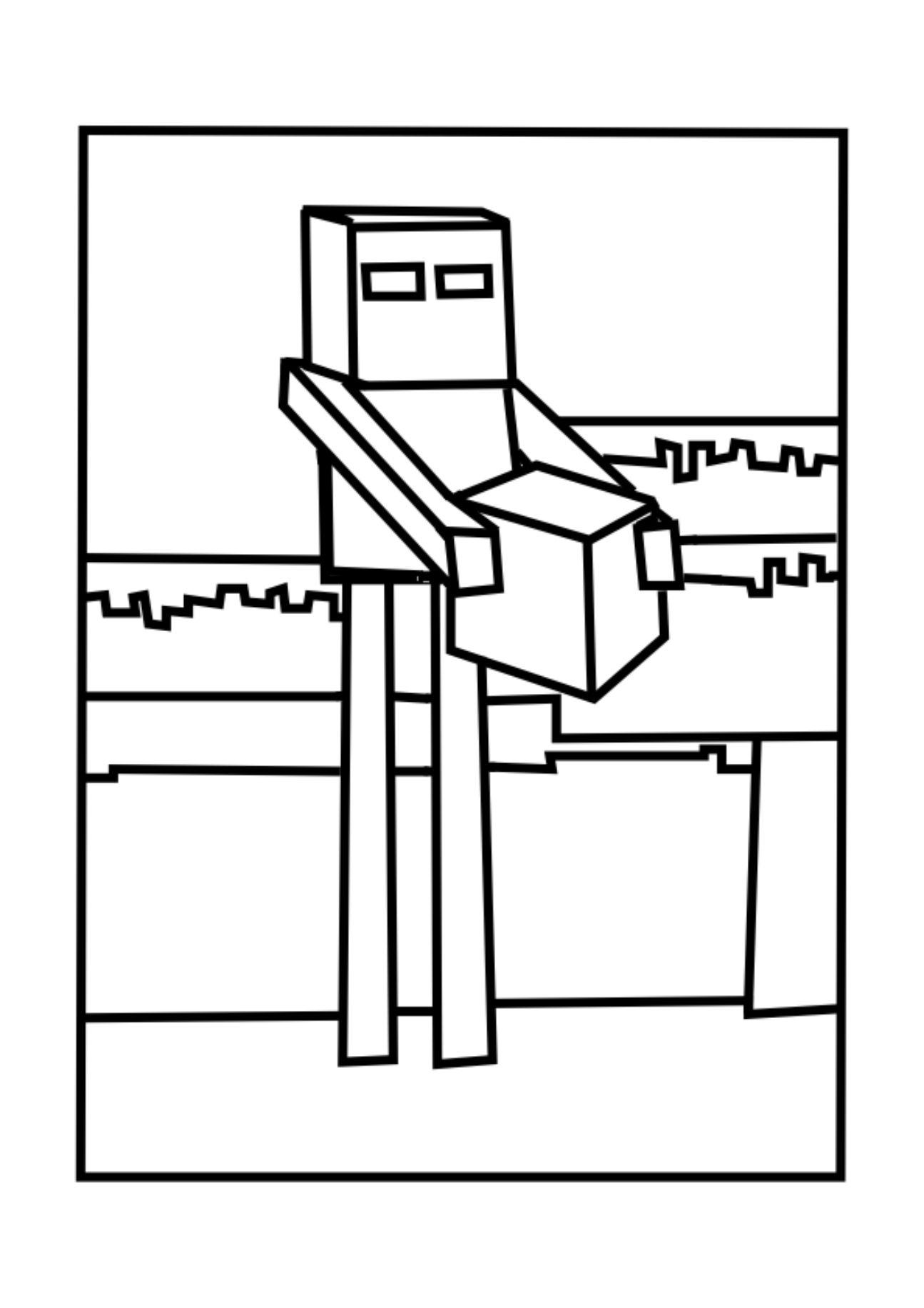Enderman 2 Jpg 1 295 1 832 Pixels Colorir Figuras Treino Em Casa
