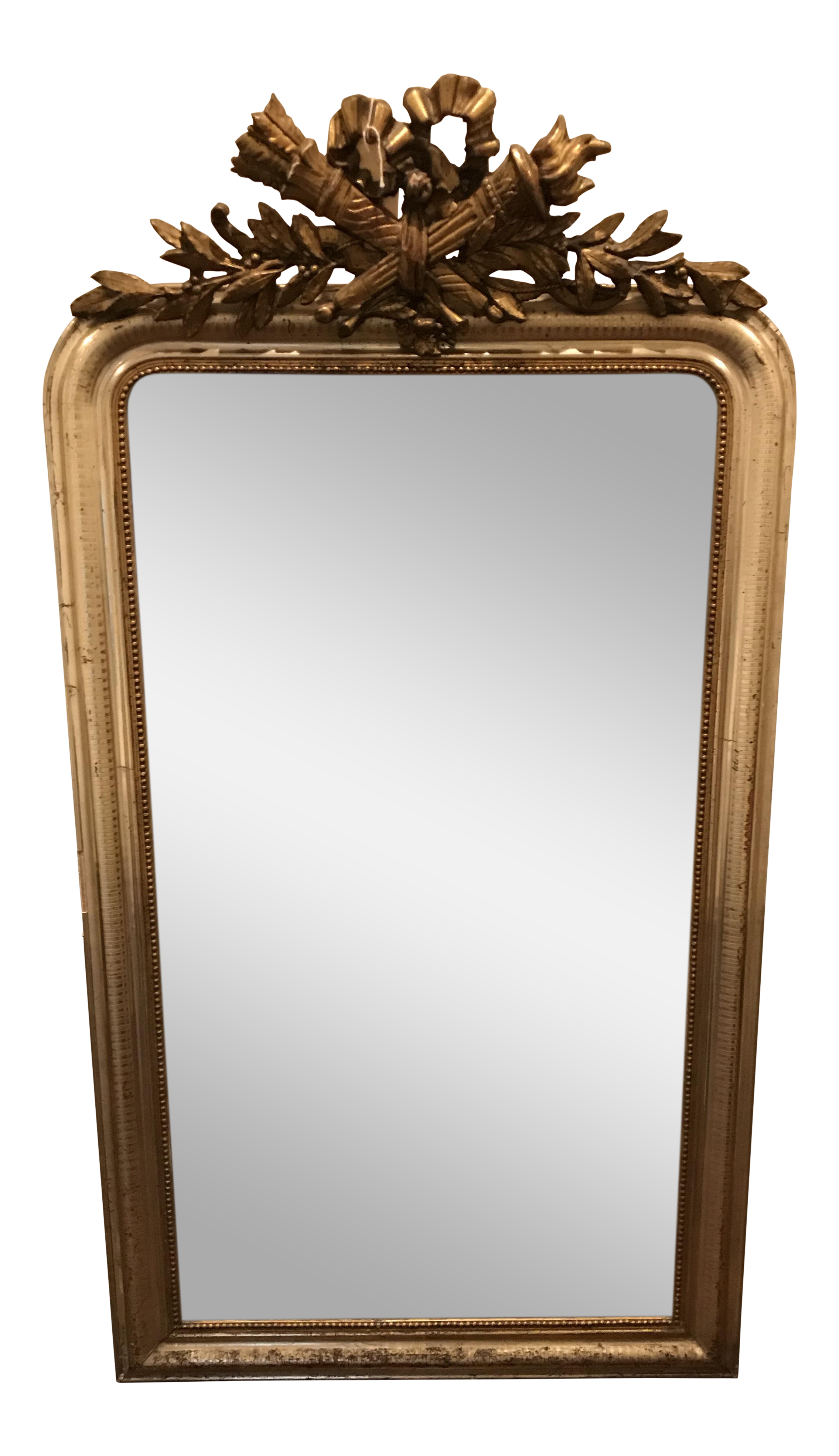 18th Century Gilded Silver Gold Mirror On Chairish Com Mirror Mirror Wall Gold Mirror