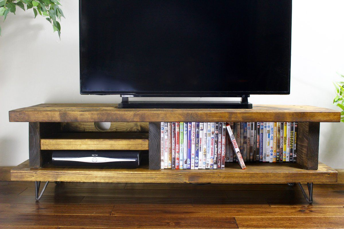Didama Tv Stand For Tvs Up To 70 Rustic Wood Furniture