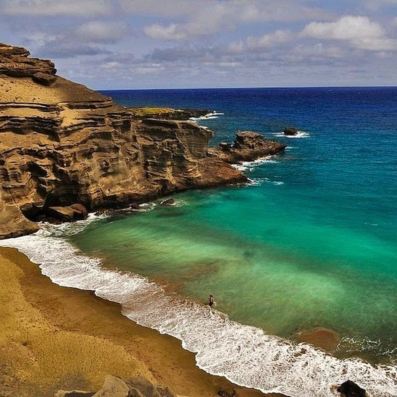 Best Beaches Big Island Hawaii: Papakolea, The Green Sand Beach