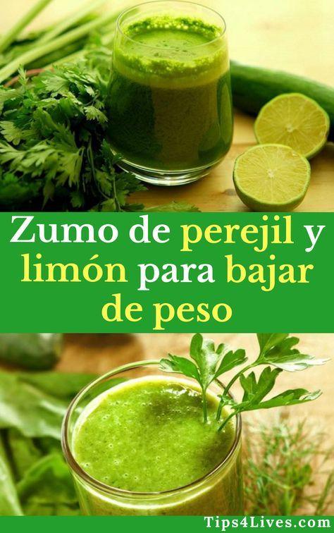 Receta de perejil y limon para adelgazar