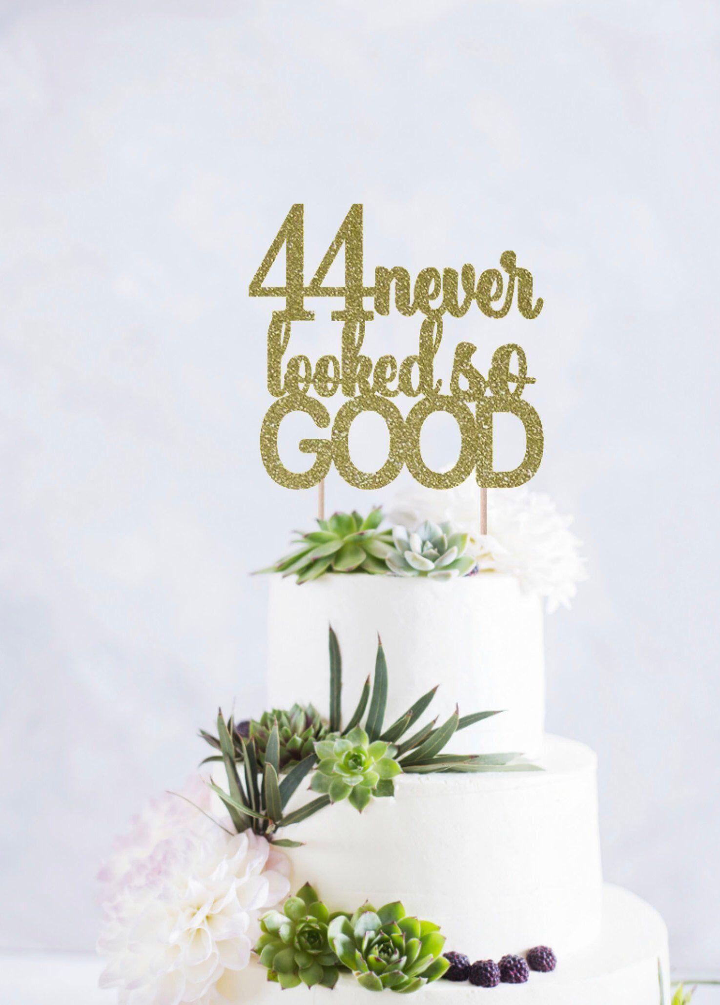 Awe Inspiring 44Th Birthday Cake Topper 44 Never Looked So Good 44Th Birthday Personalised Birthday Cards Petedlily Jamesorg