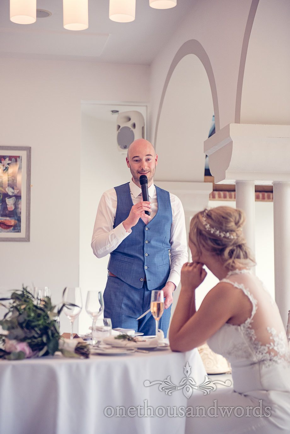Grooms Speech At Italian Villa Wedding Photographs Photography By One Thousand Words Photographers