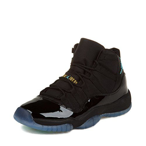 separation shoes e8b32 92371 Nike Little Boys Air Jordan 11 Retro GS Black Gamma Blue-Black-Varsity Maize  Leather And Synthetic Basketball Shoes