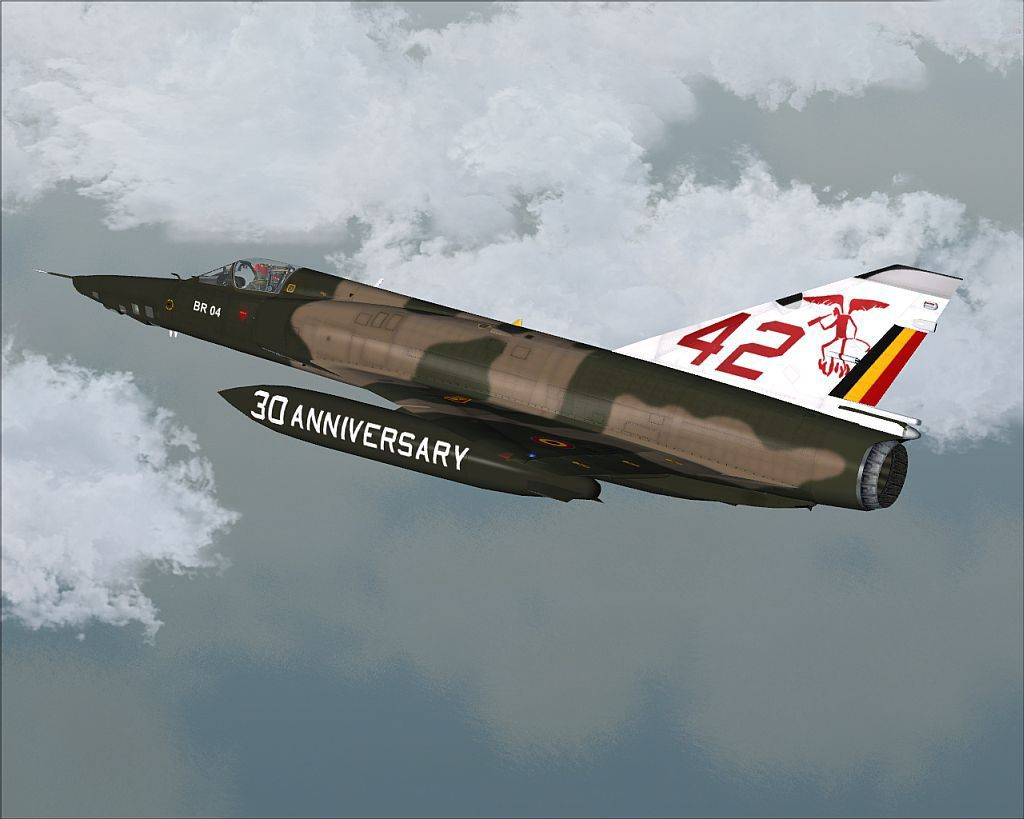 FSX Belgian Air Force Mirage 5BR