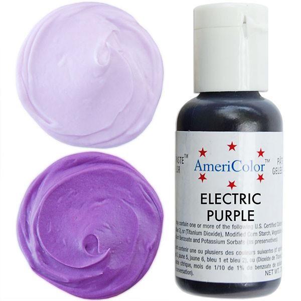 Electric (NEON) Purple Gel Paste Food Coloring | AmeriColor | Gel ...