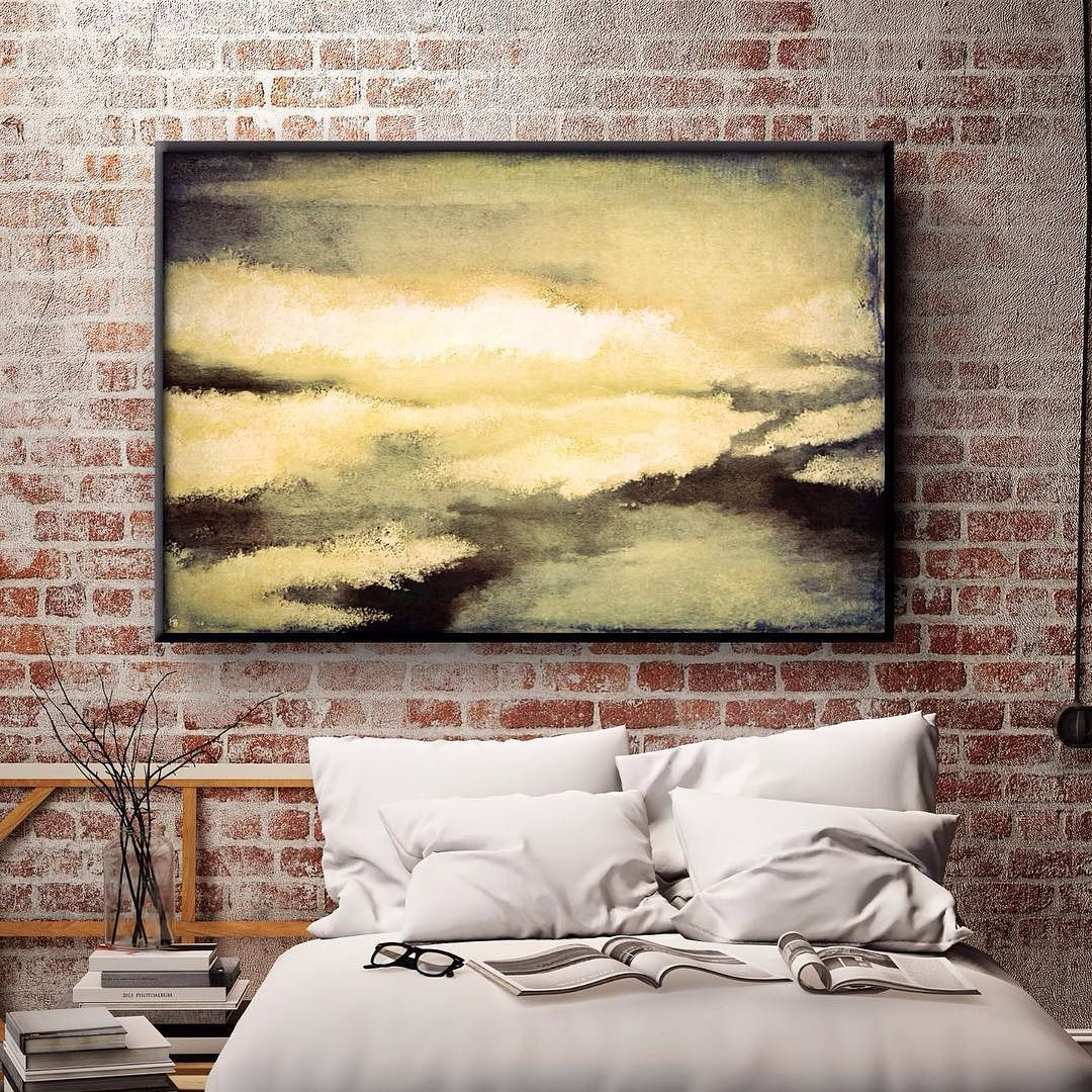 A bold abstract piece for dynamic personalities! Large yellow ...