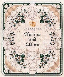 Ellen Maurer-Stroh Sampler - Wedding - EMS097 -  Leaflet - . SKU: .