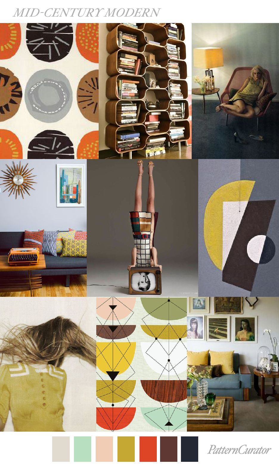 MID-CENTURY MODERN | It's all about... Theme board and ...
