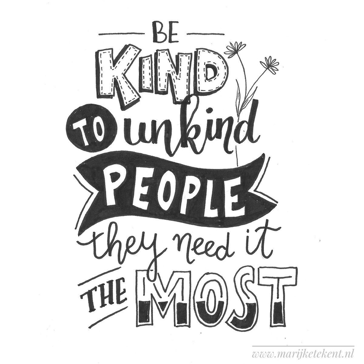 Download Be kind~~ | Hand lettering quotes, Handwritten quotes ...