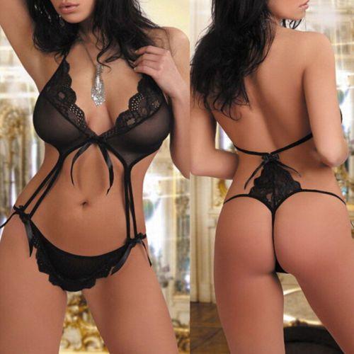 Mujeres Sexy Encaje G-String Lencería Babydoll Ropa de Dormir Ropa De  Dormir Conjunto Ropa Interior Sujetador 0d8c1e6eea97