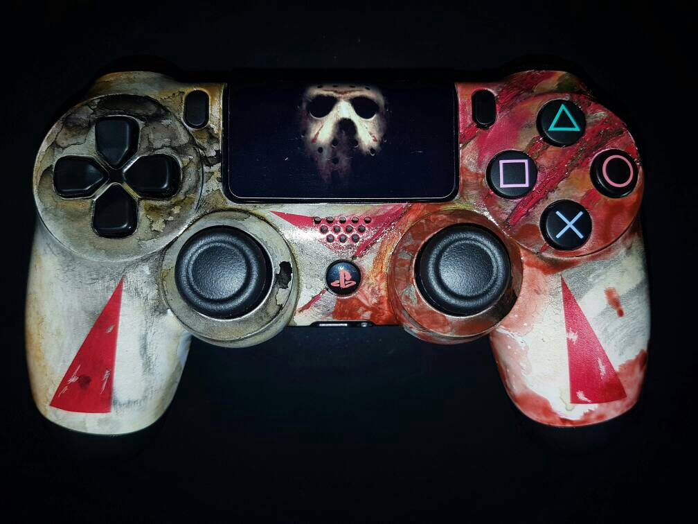 custom jason voorhees friday the 13th ps4 controller by