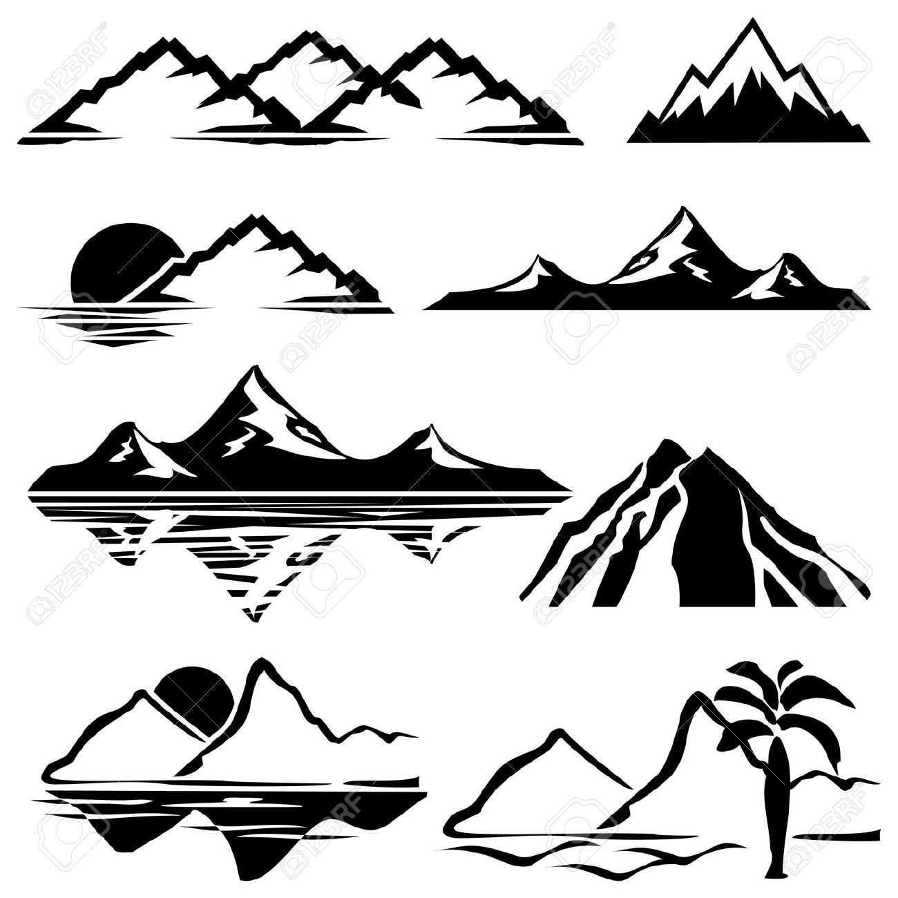 how to draw the rocky mountains